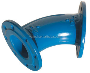 ISO2531,EN545 Ductile Iron Double Flange 90 Deg Bend Pipe Fitting