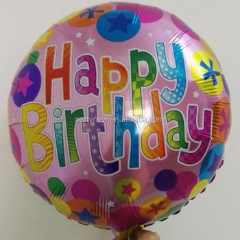 Round 18quotinch Balloon For Birthday Party Decoration Children Happy Foil