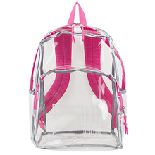 Zip eco-friendly recycled children school book bag, cute clear kids school transparent pvc backpack bag