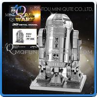 Mini Qute Piece Fun 3d Metal Puzzle Star War X Wing Robot Military ...