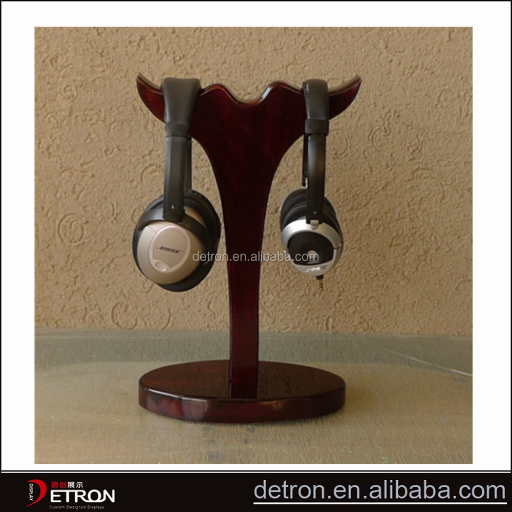 New products wooden headphone display stand