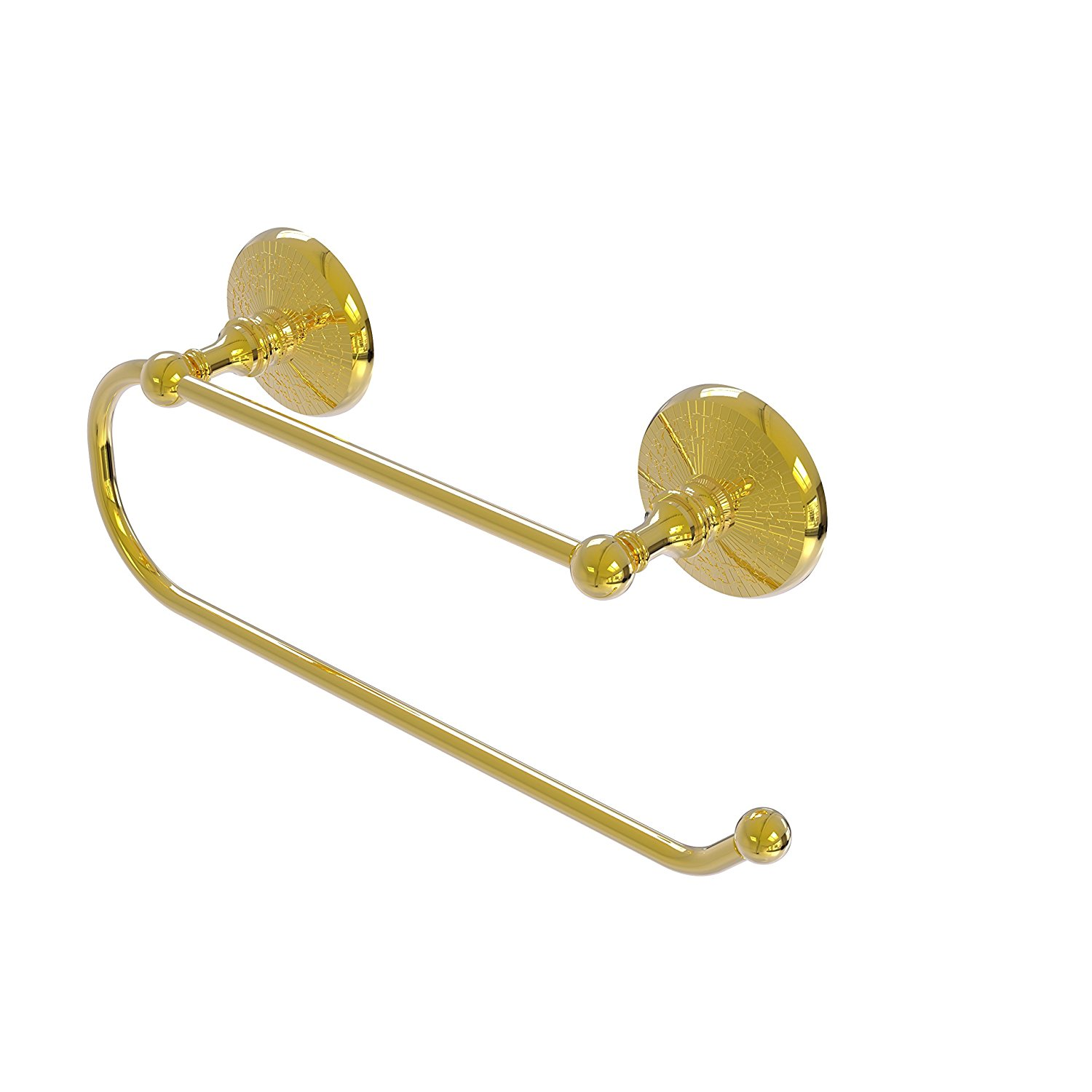 Allied Brass Prestige Monte Carlo Wall Mounted Paper Towel Holder PMC-25EW - Unlacquered Brass