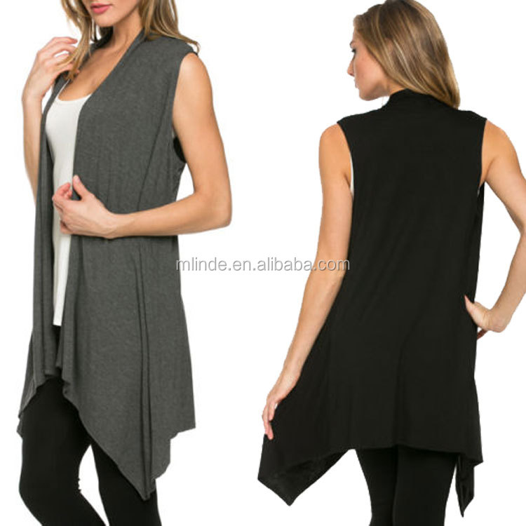 Ladies European and American New Sleeveless Knitted Shawl Cardigan Women's Clothing Cardigan