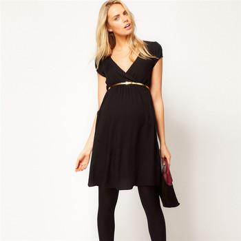 7b5db60b6 De alta calidad de ropa de embarazo vestido elegante para las mujeres  embarazadas de algodón con