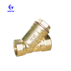 1/2''-4'' Yellow Color Factory Brass Water Filter Y Type Strainer