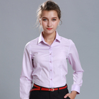 Pink Blouse Uniform Work Shirts Factory Uniform Shirt Women