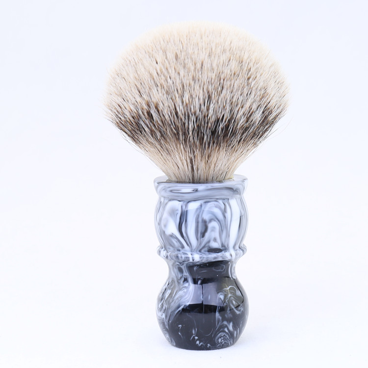 YAQI : Brosse synthétique de style Tuxedo la Balustre Customize-logo-men-super-badger-hair-shaving