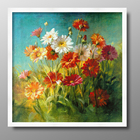 Paint By Numbers Vintage Abstract Canvas Wall Art Flower Painting