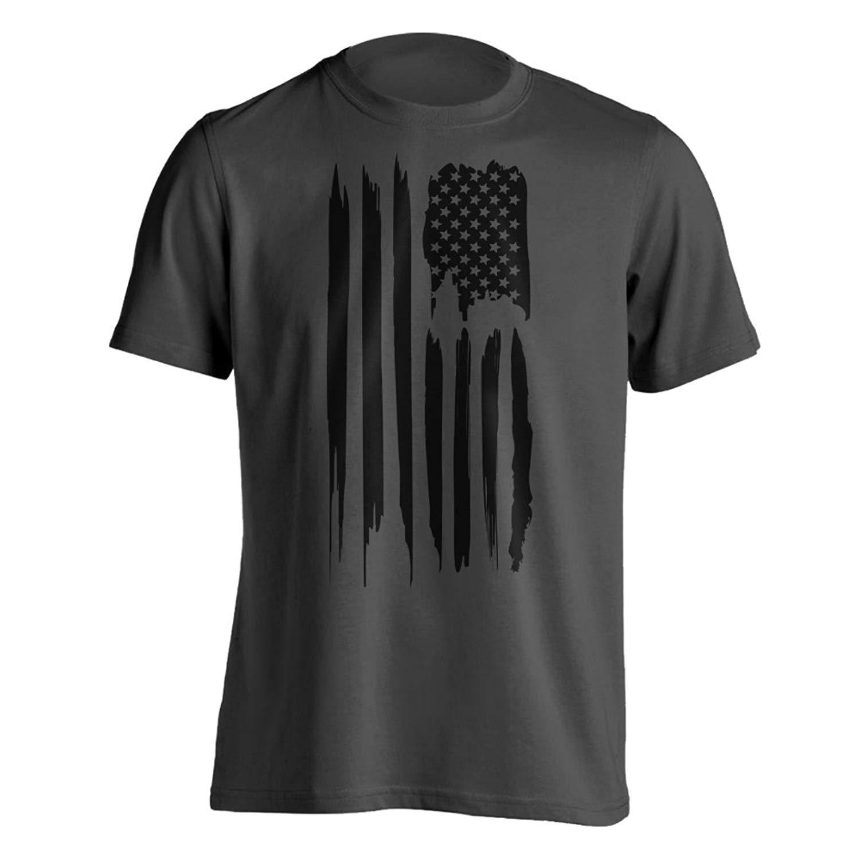 1592997eb25e86 Get Quotations · Dion Wear Black American Flag T-Shirt