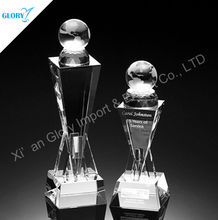 Wholesale optical blank crystal glass globe with base