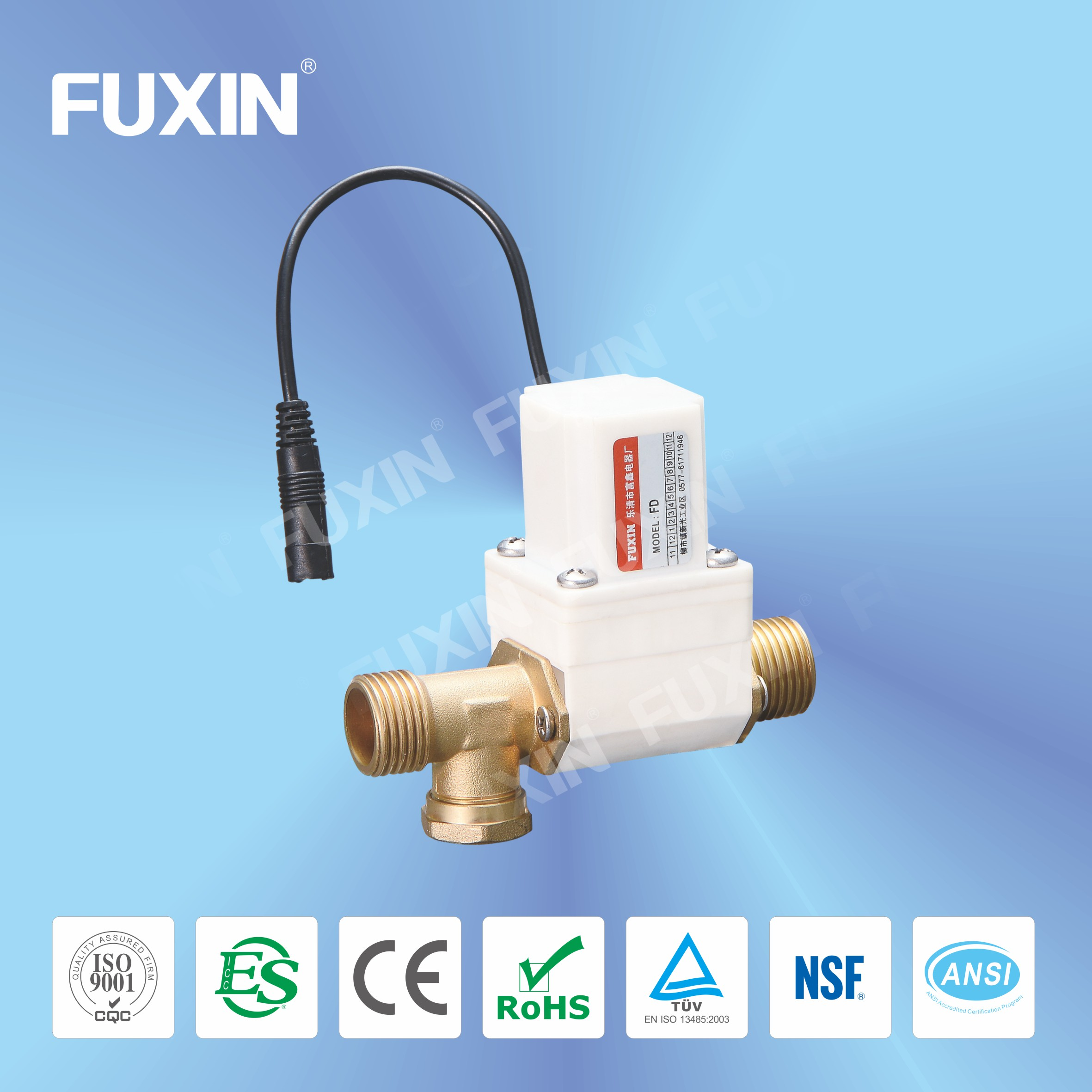 water tap flow control self closing ball valve DN15