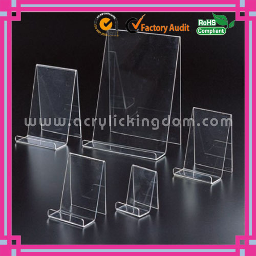 document display stand clear singled sided acrylic acrylic book easel
