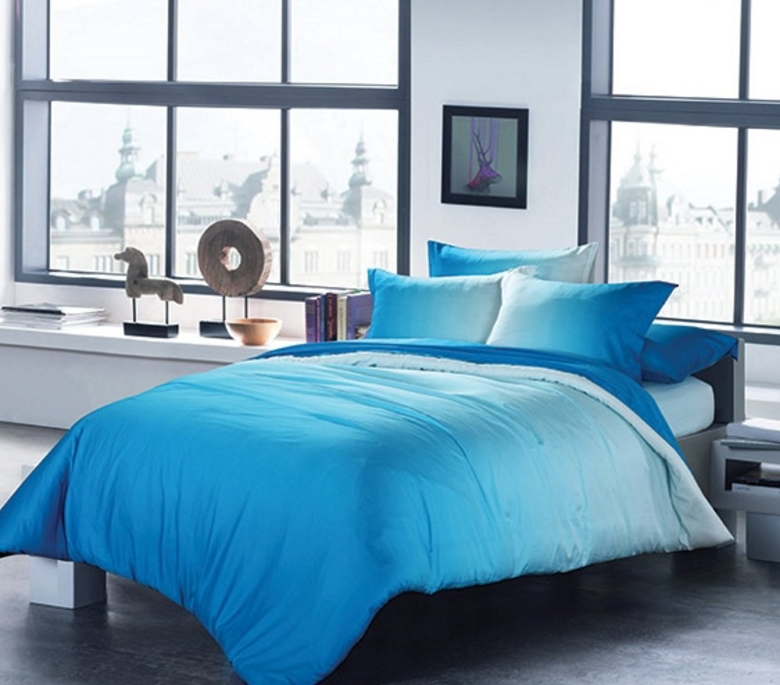 sets sugar blue products duvet screenshot bedding rags dip dyed ombre ink skull and comforter teal