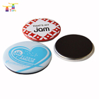 custom full colour printing heart round tinplate square buttons badge magnet