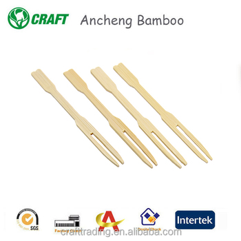 Mini 90mm disposable bamboo wooden fuit fork