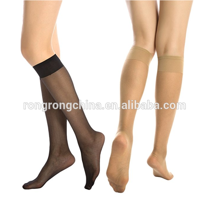 afb1d5719 Cheap Price Sexy 6 Pack Silky Sheer Knee High Trouser Socks Reinforced Toe  Thigh High Socks