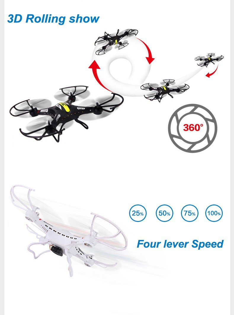 JJRC H8C  With 2MP HD Camera  2.4G 4CH 6Axis Gyro RC Quadcopter Explorers Drone