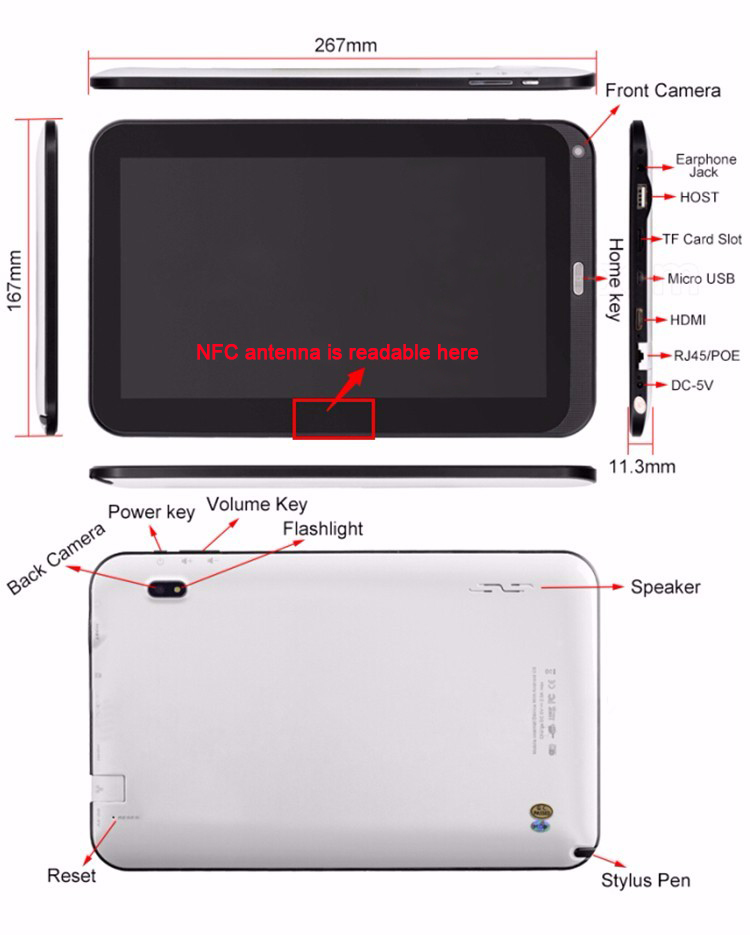 Hipo China Grafische Draagbare Tekening Super Slanke Pad Tablet PC Board Cooling Pad Digitizer Met Touch Pen