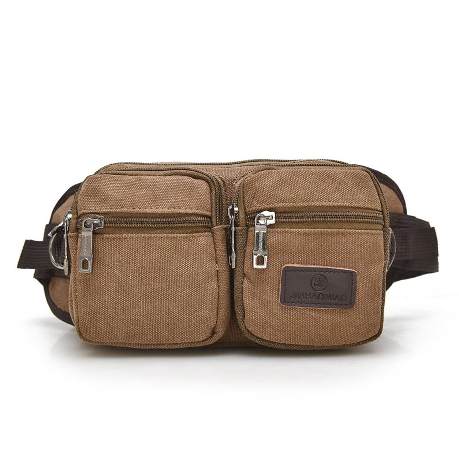 Mens Canvas OutDoor Sports Travel Fanny Waist Packs Hip Bum Bags