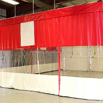 Custom Industrial Curtain Clear Plastic Vinyl Curtain Walls Divider
