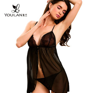 Made in China Beautiful Ladies Black Transparent Sexy Lingerie