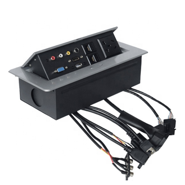 Terrific Electric Multi Media Desk Pop Up Outlet Power Plugs Connection Box Wiring Cloud Nuvitbieswglorg