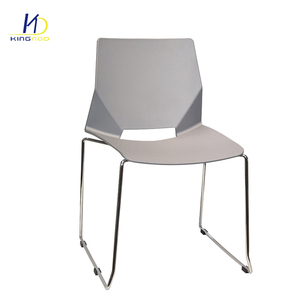 Wholesale Modern PP Seat Metal Legs Chairs Plastic Dining Room Chair For Sale