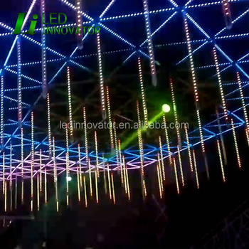madrix control music activated led rgb dmx tubes 3d meteor for stage lighting