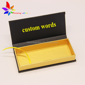 Fashion custom matte golden inner paper eyelash box