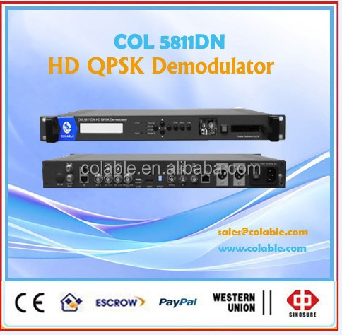 digital hd satellite receiver ird, conax,irdeto CAM satellite receiver hd ird qpsk demodulator COL5811DN