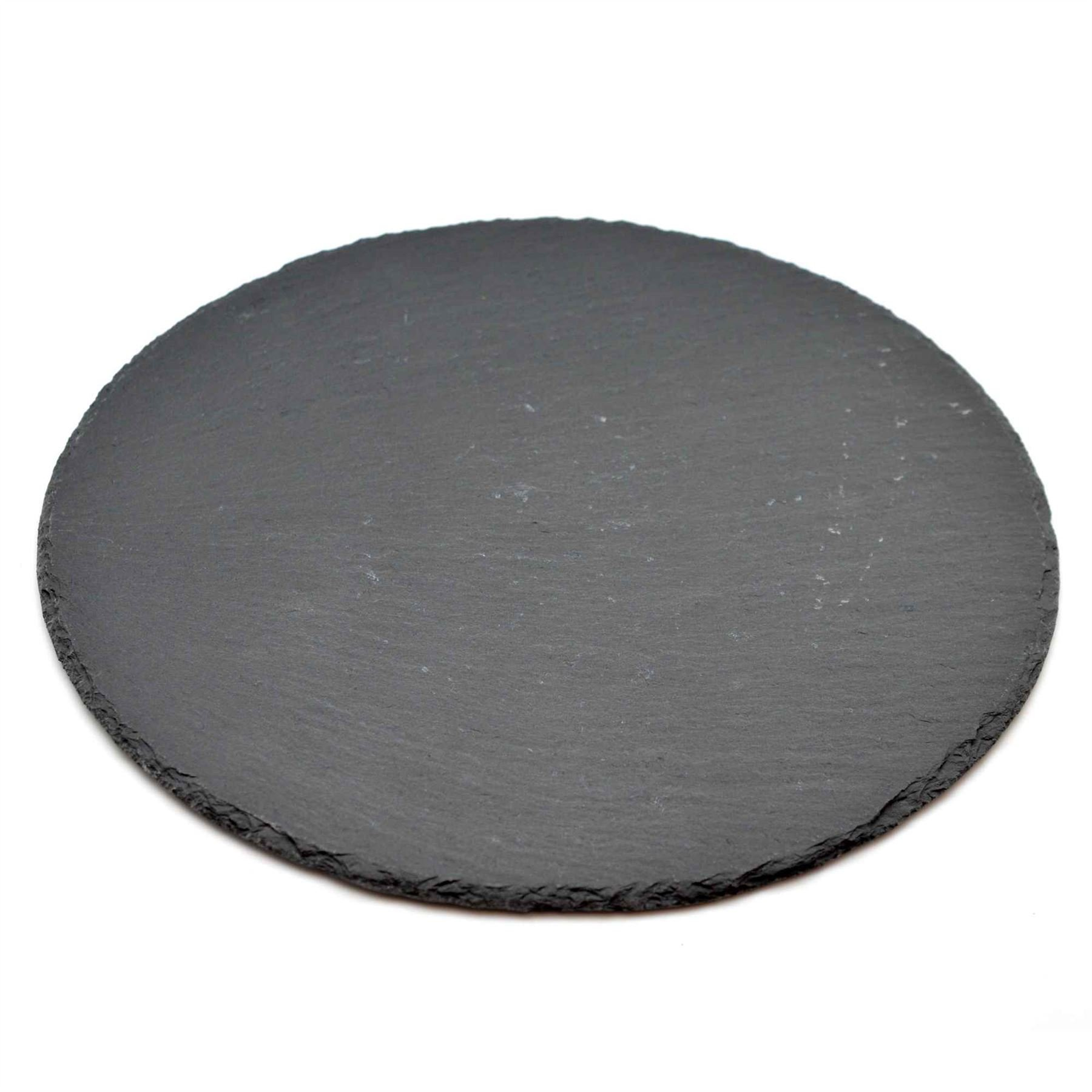 Natural Slate Round Pizza / Food / Drinks Serving Platter - 330mm