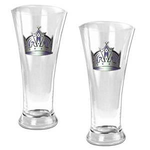 NHL 19oz Pilsner Glass 2 Piece Set - Primary Logo NHL Team: Los Angeles Kings