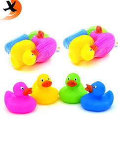 promotional custom bath rubber duck for kids by eco-friendly PVC