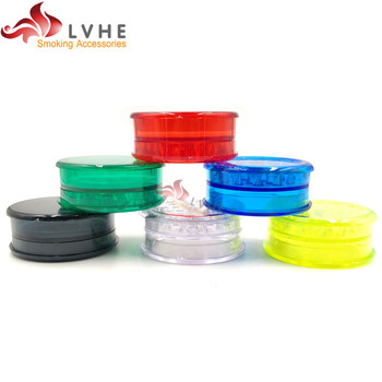 T058GP LVHE Unique Products From China 60mm 3 Parts Custom Plastic Herb Grinder Sale