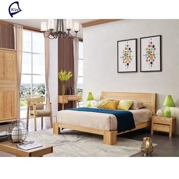 Scandinavian Bedroom Set Wooden Simple Double Bed Design In Woods Product On