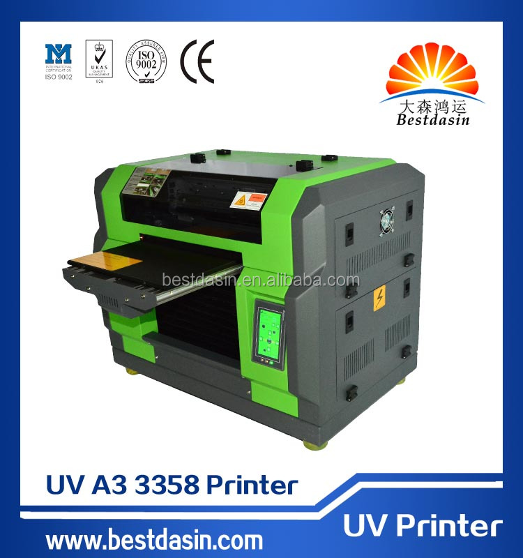 UV A3 DS3358 high definition 5760 *2880DPI C, M, Y, K,+4W nail art printer photocopy machine digital fabric printing machin...
