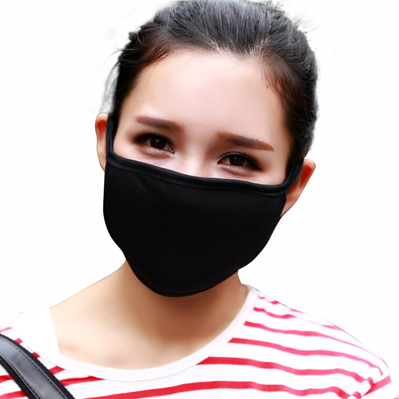 custom cotton blend anti dust face fashion black mouth cover mask for man women