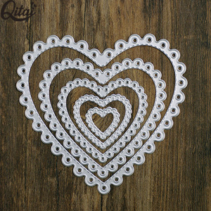 heart shaped 5 pieces frame set metal cutting dies the best die cut