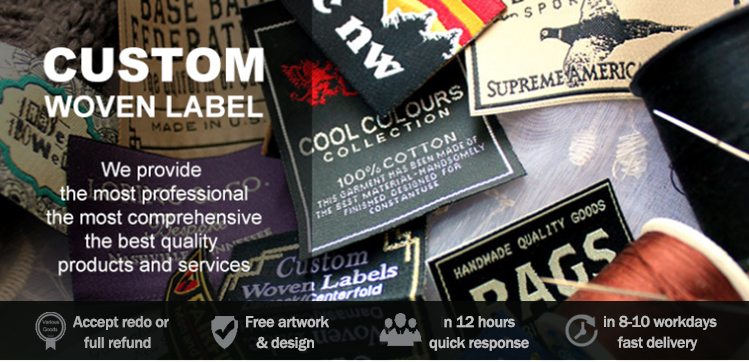 different style clothes labels and tags, woven label clothing labels, garment accessories