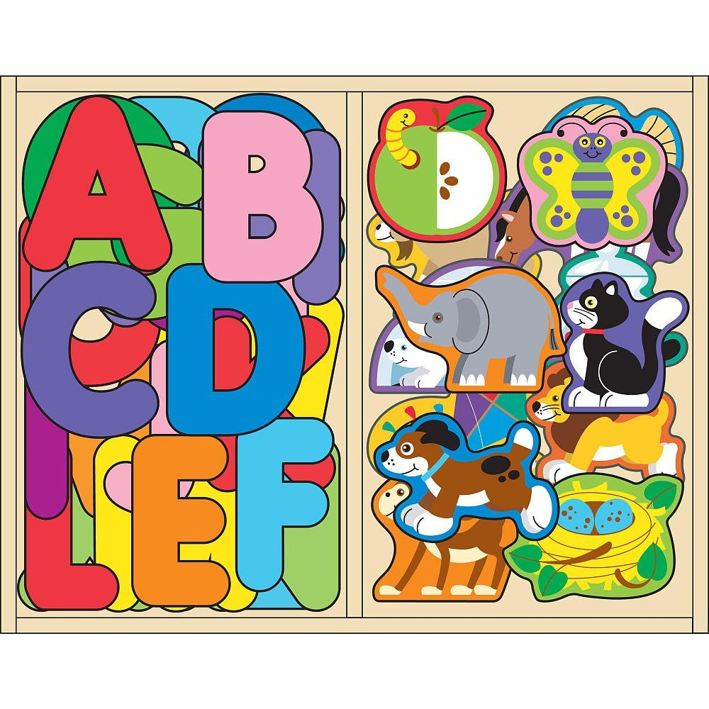Melissa & Doug ABC and Animal Magnet Set
