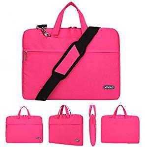 "BIBITIME Nylon Waterproof Notebook Laptop Sleeve Case Bag Handbag For 11-15 inch Apple MacBook Pro Air (Pink, 12"")"