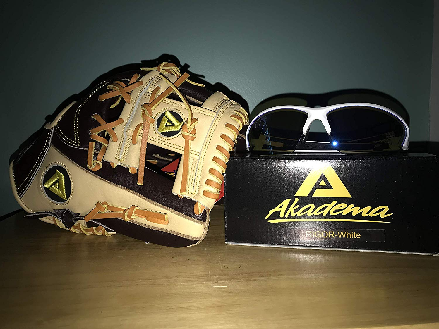 642b0a54ca10 Get Quotations · Akadema Baseball Glove and Sunglasses Bundle for Youth and  Adult. Baseball Mitt Bundle Includes Torino