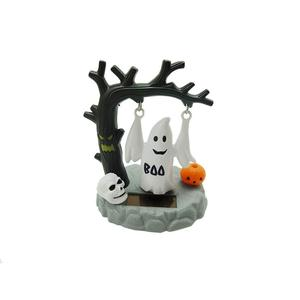 Funny Solar Powered Halloween Swing Ghost Toy Home Car Ornament Decor