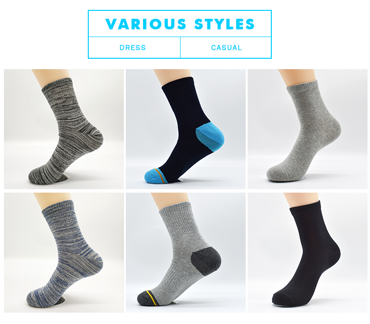 Hot Sale Cotton Foot Long Fancy Young Man Wholesale Hiking Custom Design Mid Calf Crew Bulk Ski Socks