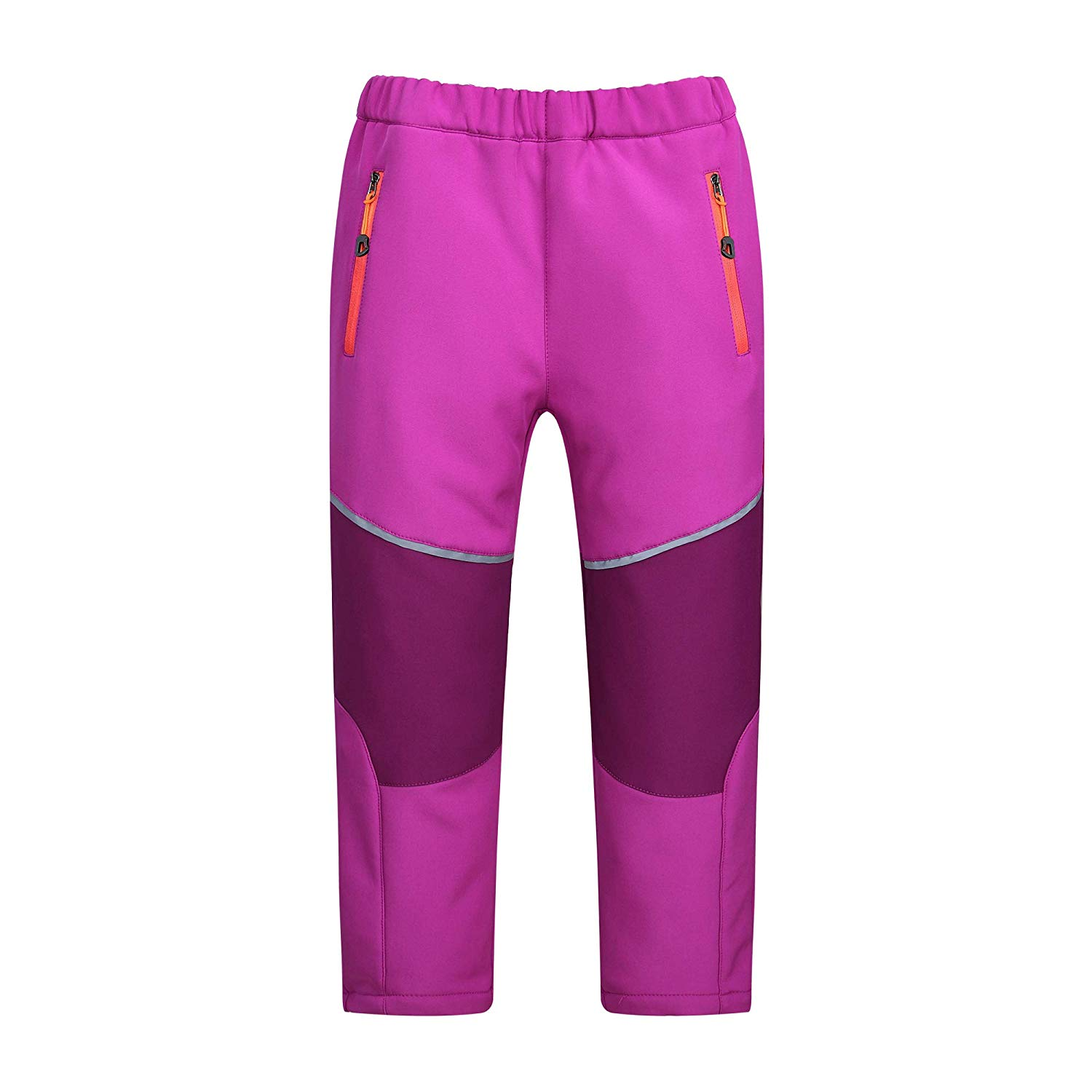 cc7b9cbcd2 Get Quotations · SEEU Kids s Fleece Lined Soft Shell Pants Great for  Snowboarding