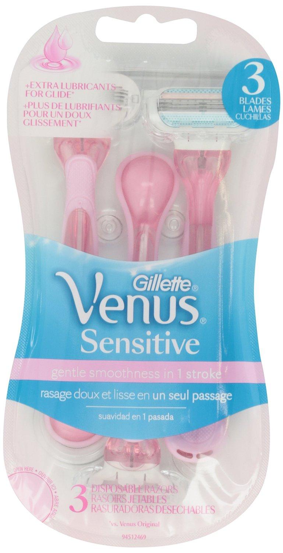 Gillette Venus Sensitive Women's Disposable Razors - 3 Pack
