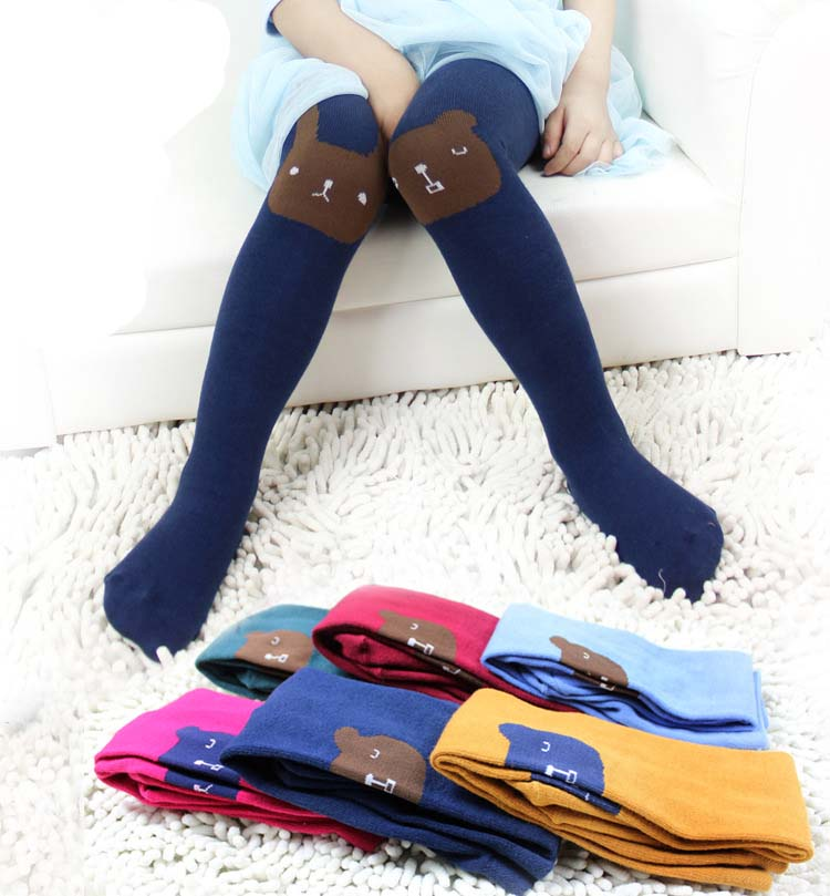 NL44 autumn girls baby stretch cotton jacquard tights pantyhose