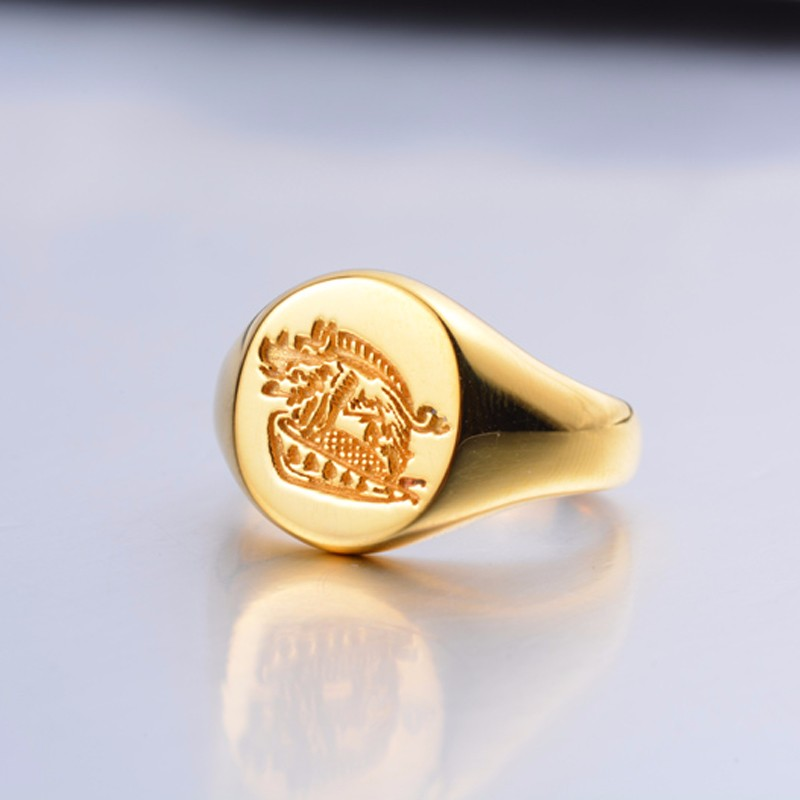 Fashion 925 Sterling Silver Kingsman Blank Custom Design Signet Rings For Men