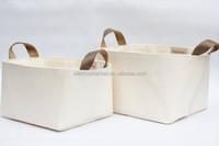 Natural Cotton Canvas Storage Basket
