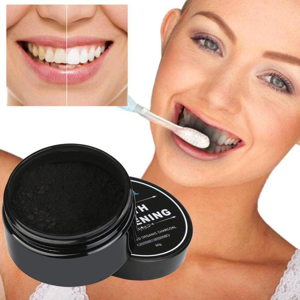 Natural Organic Activated Charcoal Bamboo Teeth Whitening Powder